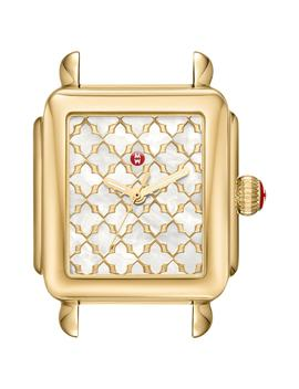 Deco Mosaic Square Watch Head, 33mm X 35mm by Michele
