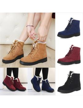 Womens Winter Warm Casual Faux Suede Fur Lace Up Ankle Boots Snow Boots Shoes by Ebay Seller