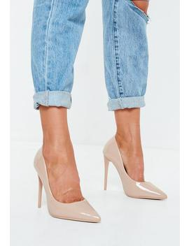 Nude Pu Pointed Toe Court Shoes by Missguided