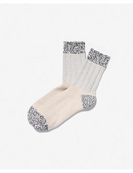 Color Block Marled Bootie Socks by Express