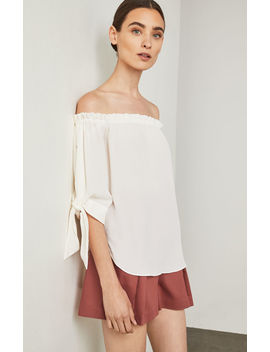 Off The Shoulder Slit Sleeve Top by Bcbgmaxazria
