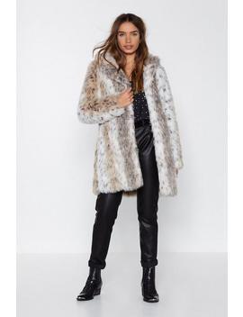 A Fur Effort Faux Fur Leopard Coat by Nasty Gal