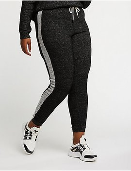 Plus Size Side Stripe Joggers by Charlotte Russe