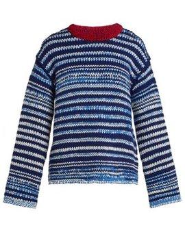 Zig Zag Knit Wool Sweater by Calvin Klein 205 W39 Nyc