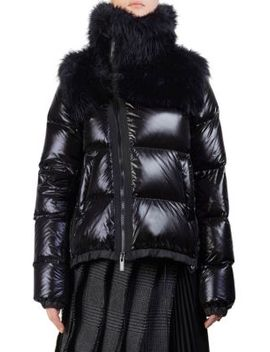 Faux Fur Down Puffer by Sacai