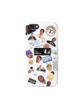 The Office Tv Show Collage I Phone Case | Dunder Mifflin | Michael Scott | Usa by Madein Qnz