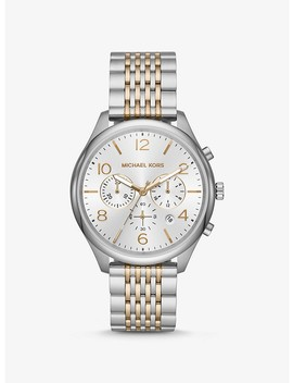 Merrick Two Tone Watch by Michael Kors