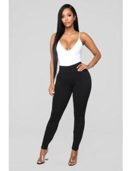 Best Of The Best Ponte Pants   Black by Fashion Nova