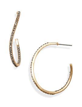 Warped Pavé Hoop Earrings by Treasure & Bond
