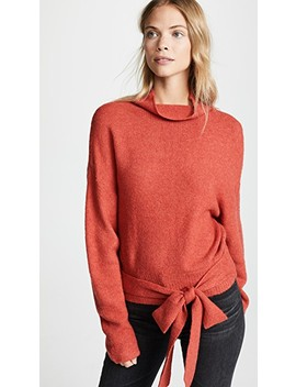 Oriana Tied Sweater by Line & Dot