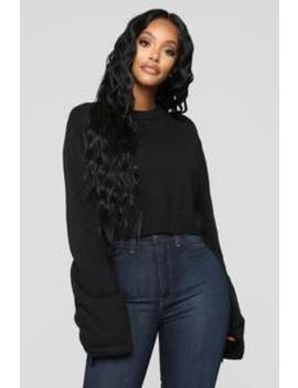 Look At Her Go Sweater   Black by Fashion Nova