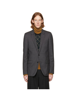Grey Classic Two Button Blazer by Wooyoungmi