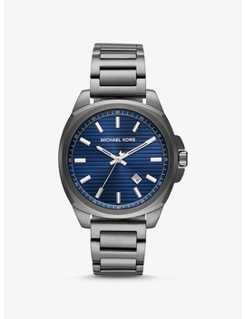 Bryson Gunmetal Tone Watch by Michael Kors