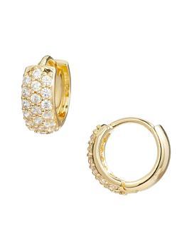 Pavé Wide Hinge Huggie Earrings by Nordstrom