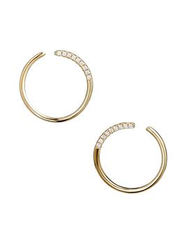 Pavé Curve Earrings by Nordstrom