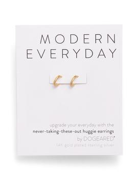 Modern Everyday Huggie Earrings by Dogeared