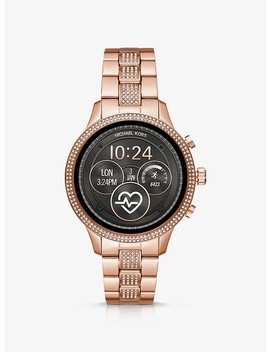 Runway Pavé Rose Gold Tone Smartwatch by Michael Kors Access