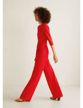 """<Font Style=""""Vertical Align: Inherit;""""><Font Style=""""Vertical Align: Inherit;"""">Long Jumpsuit With Bow</Font></Font> by Mango"""