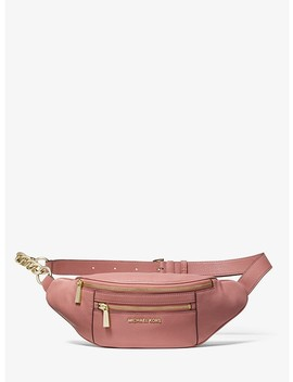 Medium Leather Belt Bag by Michael Michael Kors