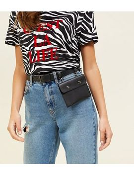 Black Hanging Belted Purse by New Look