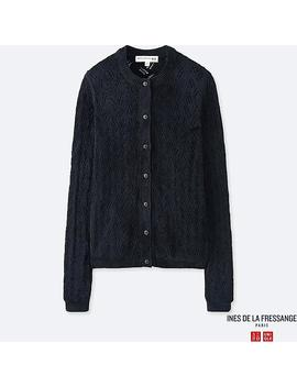 Women Ines Pointelle Cardigan by Uniqlo