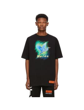 T Shirt Noir Airbrush by Heron Preston