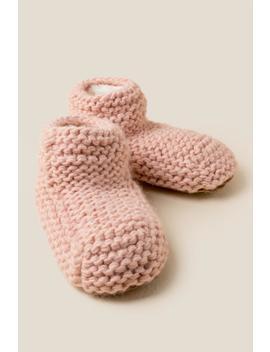 Roxy Chunky Knit Slippers by Francesca's