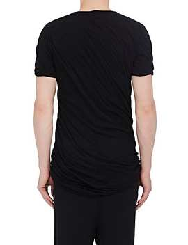 Double Layered Cotton Jersey T Shirt by Rick Owens