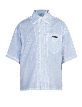Overdyed Cotton Shirt by Prada