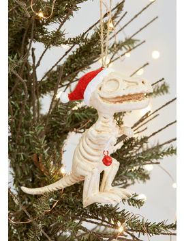 Bone For The Holidays Dino Ornament by One Hundred 80 Degrees