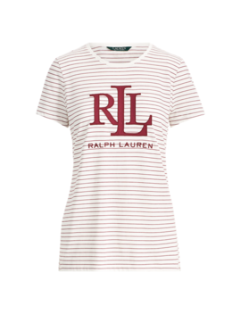 Studded Logo T Shirt by Ralph Lauren