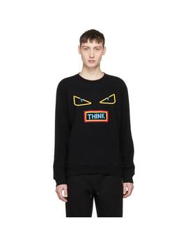 Black 'think' Sweatshirt by Fendi