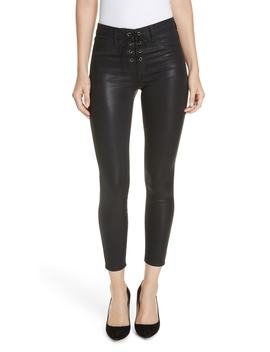 Cherie Lace Up Skinny Jeans by L'agence
