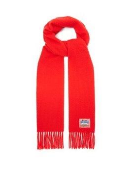 Blå Konst Holmes Wool Scarf by Acne Studios