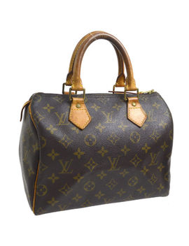 Authentic Louis Vuitton Speedy 25 Hand Tote Bag Monogram Purse M41528 A40139 by Louis Vuitton