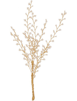 Baby's Breath Gold Plated Pearl Brooch by 14 / Quatorze