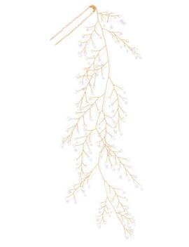 Dewdrop Gold Tone Crystal Hair Pin by 14 / Quatorze