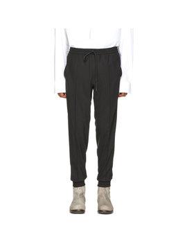 Black Wool Drawstring Trousers by Juun.J