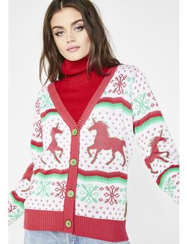 Christmicorn Cardigan by Tipsy Elves