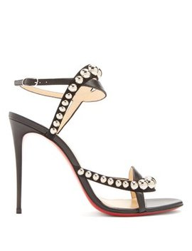 Galeria 100 Stud Embellished Leather Sandals by Christian Louboutin