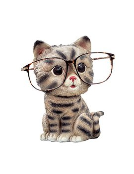 Flying Balloon Cute Markings Cat Animals Shaped Resin Spectacles Holder Shelf Coin Bank Home Decoration Best Gift For Kids Friends by Flying Balloon