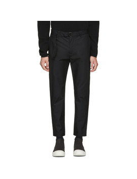Black Slim Trousers by Undecorated Man