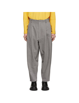 Grey Loose Trousers by House Of The Very Islands