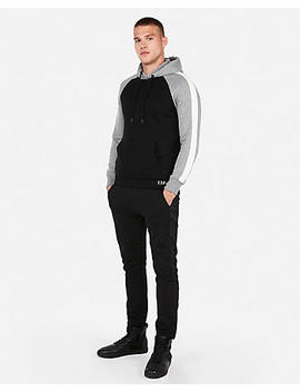 Exp Nyc Color Block Fleece Hoodie by Express