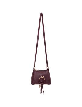 Purple Shearling Mini Joan Bag by See By ChloÉ