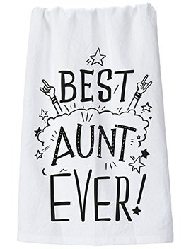 """Primitives By Kathy 26946 Omg Lol Dish Towel, 28"""" X 28"""", Best Aunt Ever by Primitives By Kathy"""