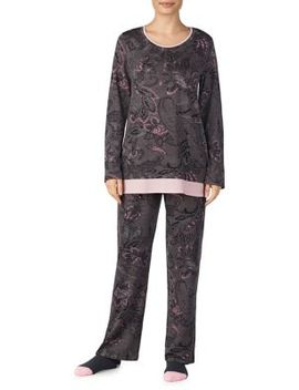 Two Piece Printed Pajama Set by Ellen Tracy