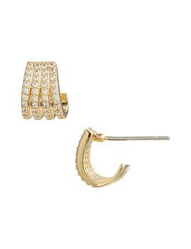 Multirow Pavé Huggie Earrings by Nordstrom