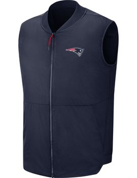 Nike Men's New England Patriots Sideline Navy Vest by Nike