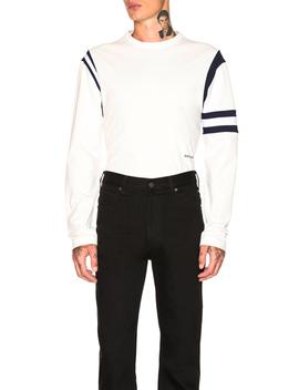Gebänderte Ärmel Sweatshirt by Calvin Klein 205 W39 Nyc